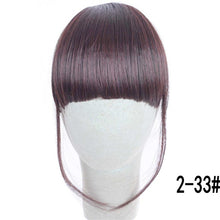 Load image into Gallery viewer, MERISI HAIR 4Color Clip In Hair Bangs Hairpiece Synthetic Fake Bangs Hair Piece Clip In Hair Extensions