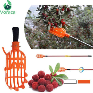 1 Pc 20*8*8cm White/Orange Plastic Fruits Picking Tool Without Pole Practical Convenient Durable Horticultural Fruit Picker