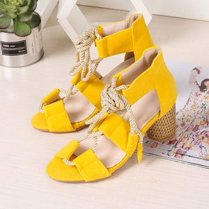 2019 explosion models fashion hollow wedge sandals Europe and the United States new high-heeled sandals