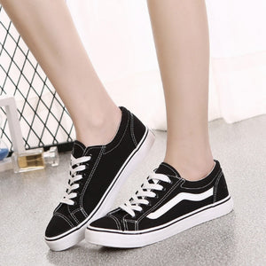 Lovers Korean Version Classic Fashion Men Women's Canvas Shoes Flat Bottom Casual Shoes Chunky Sneakers Zapatos Mujer Old Skool