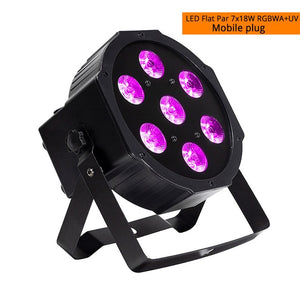 High Quality LED Mini 7X18w Wash Light RGBWA+UV 6in1 Moving Heads stage light DMX stage light DJ Nightclub Party Concert