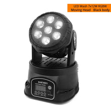 Load image into Gallery viewer, High Quality LED Mini 7X18w Wash Light RGBWA+UV 6in1 Moving Heads stage light DMX stage light DJ Nightclub Party Concert