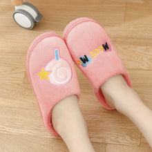 Load image into Gallery viewer, Male and female indoor floor plush warm cotton slippers winter  non-slip wear resistant