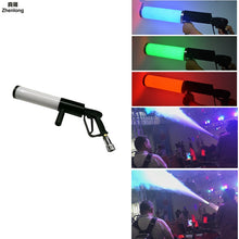 Load image into Gallery viewer, Pistola Co2 Arma Mitraillette Bar Co2 Gun Stage Light Gun Co2 Led Rgb for Wedding Disco Dj Jet Gun Pistol Mini Led Air Softgun