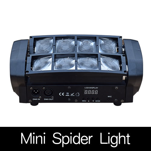 8x12w Rotating Moving Head LED Stage Effect Lamp Spider Stage Beam Light for Disco