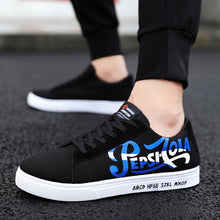Load image into Gallery viewer, Men's Vulcanize Shoes Lace-up Fashion printed canvas shoes Spring Autumn Sneakers 2019