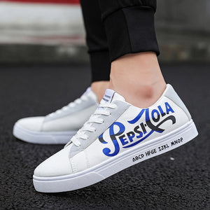 Men's Vulcanize Shoes Lace-up Fashion printed canvas shoes Spring Autumn Sneakers 2019