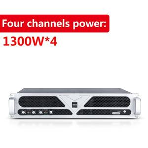 TKL PS4 professional power amplifier 1300Wx4 dj Audio Power HiFi Amplifier Speaker