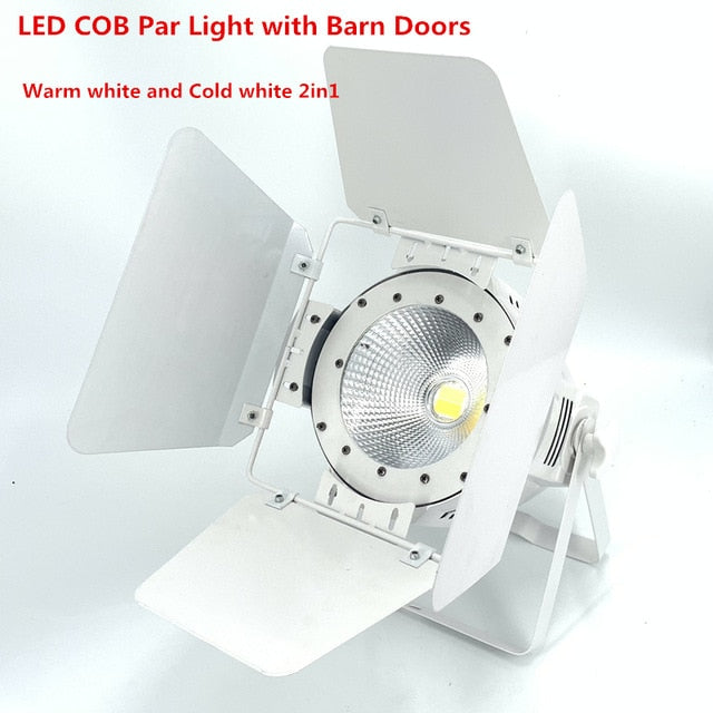 200W COB LED par light  With Barn Doors RGBWA UV 6in1/RGBW 4in1/RGB 3in1/ Warm White Par64 led wash
