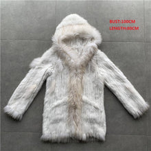 Load image into Gallery viewer, QC01 Free shipping women natural real  rabbit fur vest  waistcoat/jackets  rabbit knitted winter warm coat