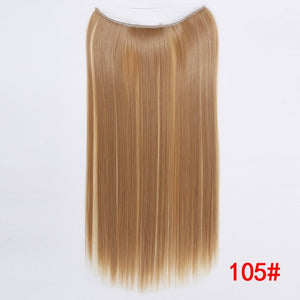 "24"" Invisible Wire No Clips In Hair Extensions Secret Fish Line  Synthetic Hair Extensions"