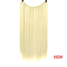 "Load image into Gallery viewer, 24"" Invisible Wire No Clips In Hair Extensions Secret Fish Line  Synthetic Hair Extensions"