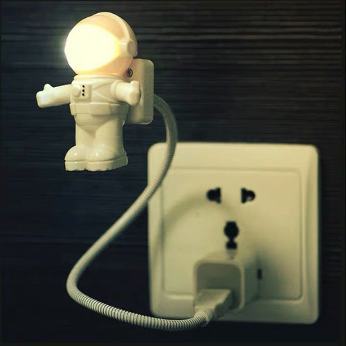 Flexible Spaceman Astronaut Usb Tube Led Night Light Lamp For Computer
