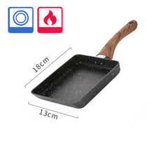 Load image into Gallery viewer, Pink Frying Pan Tamagoyaki Japanese Stone Aluminum Alloy PanNon-stick Cookware