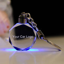 Load image into Gallery viewer, Car Logo Keyring Key Holder for Audi VW Benz Ford Toyata Buick Skoda Nissan Luminous chain