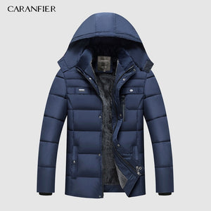 Warm Thick Winter Jacket Men Clothes Casual Stand Collar High Quality Fashion Brand Winter Coat