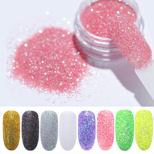 1g/Box Holo Nail Glitter Powder Gradient for UV Gel Polish Nails Decorations
