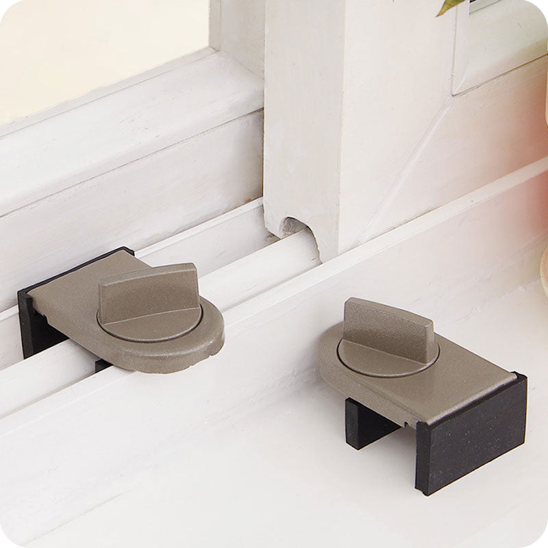 Windows adjustable security door latch Mobile window insurance lock anti-theft protection