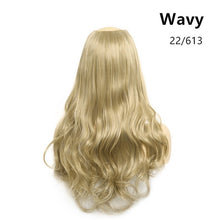 "Load image into Gallery viewer, 24""  U-Part Clip in Hair Extension Straight & Wavy One Piece Head Long Natural Hairpieces"
