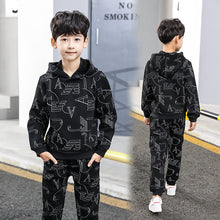 Load image into Gallery viewer, 2018 New fall winter Lovely Causal Toddler Baby Boys Clothes Sets 2PCS 10Year Long Sleeve Cartoon Sweatshirt Tops+ Pants Outfit
