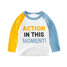 Load image into Gallery viewer, Letter Baby Boys Long Sleeve T Shirts 2 to 9 Years Fall Children