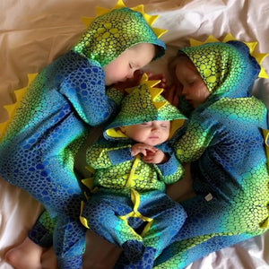 Baby Clothing Dinosaur Printing Newborn Baby Pajamas Siamese Clothes Fall Infant Hoodie Romper