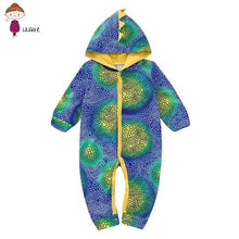 Load image into Gallery viewer, Baby Clothing Dinosaur Printing Newborn Baby Pajamas Siamese Clothes Fall Infant Hoodie Romper