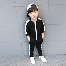 Load image into Gallery viewer, Hot 2018 Little Kids Clothing Set 3 Pcs Spring Fall Baby Boys Sports Suit Clothes Children's Casual Jacket + T-Shirt + Pants X80