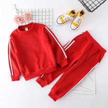 Load image into Gallery viewer, 2017 Boys Girls Fall Winter Casual Clothing Set Children Kids Velvet Sweaters Pants 2pcs Suits Kids Girl Boy Tracksuit