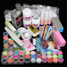 Load image into Gallery viewer, Professional 42 Acrylic Liquid Powder Glitter Clipper Primer File Nail Art Tips