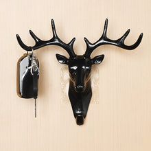 Load image into Gallery viewer, Deer Head wall hook Animal Self Adhesive Clothing Display Racks Hook Coat Hanger Cap Room Decor Show Wall Bag Keys Sticky Holder
