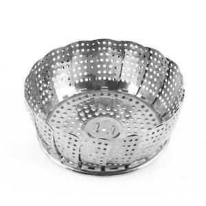 Popular Cookware Stainless Steaming Basket, folding Food Fruit Vegetable Dish Steamer