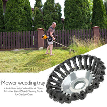 Load image into Gallery viewer, Multifunctional 6 Inch Steel Wire Wheel Brush Grass Trimmer Head Weed Cleaning