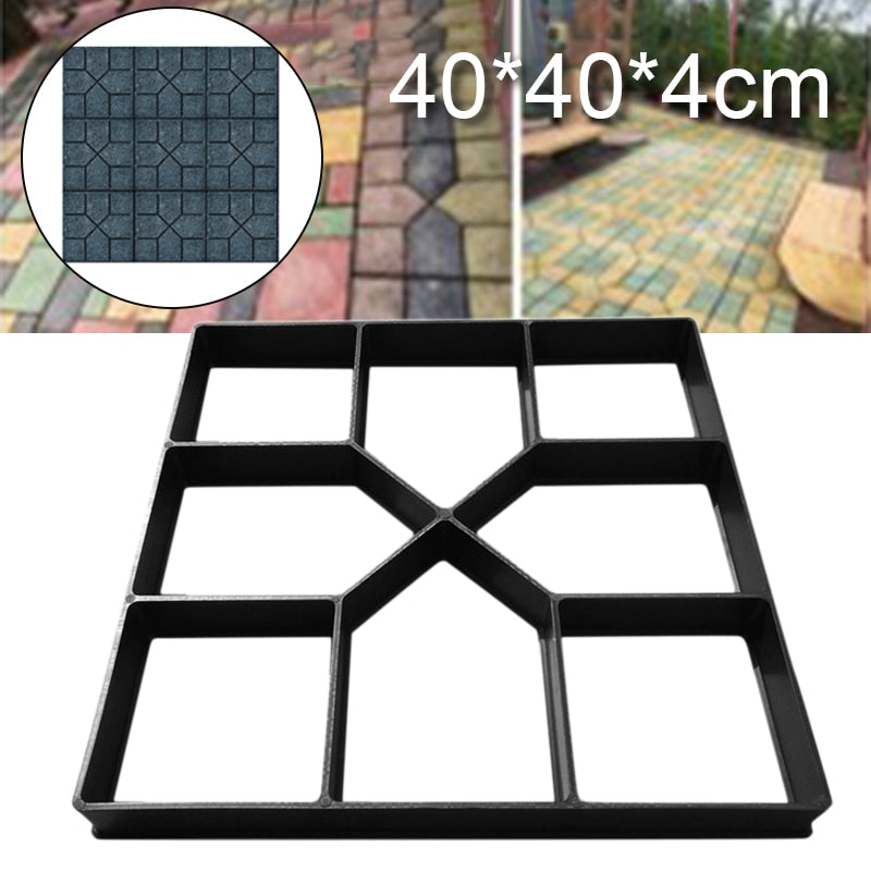 40cm Garden Pavement Mold Walk Pavement Concrete Mould DIY Paving Cement Brick Stone Road Concrete Molds Path Maker