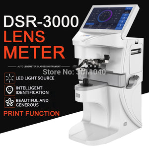 auto lensmeter Digital lensometer DSR3000Optical focimeter Automatic lens meter 7 inch touch screen UV PD Printing