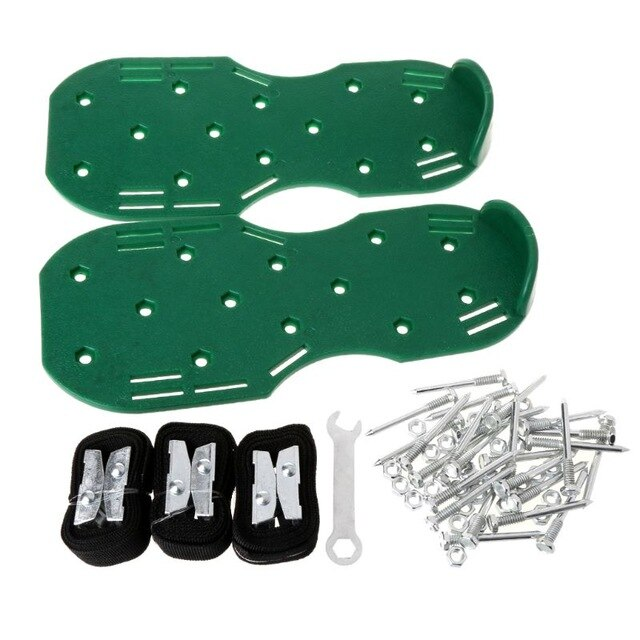 Free delivery A Pair Lawn Aerator Shoes Sandals Grass Spikes Nail Cultivator Yard Garden Tool