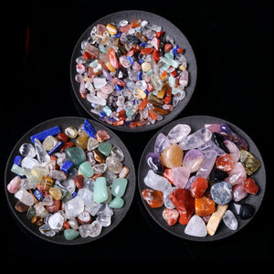 50g 3 Sizes Natural Mixed Quartz Crystal Stone Rock Gravel Specimen Tank Decor Natural stones and minerals