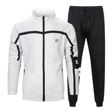 Load image into Gallery viewer, Men Two Pieces Set New Fashion Hooded Sweatshirts Sportswear Men Tracksuit Autumn