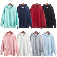 Load image into Gallery viewer, 8 Color Plus Size Sweatshirts Women Hoodies Long Sleeve  Solid Fleece