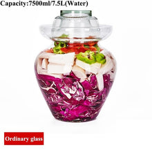 Load image into Gallery viewer, Transparent Glass Pickle Bottles Night Stains Pickled Vegetable Cabbage Sealed Container