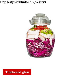 Transparent Glass Pickle Bottles Night Stains Pickled Vegetable Cabbage Sealed Container