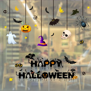 2019 New Wallpaper Halloween Decorat Static Electricity Wall Sticker