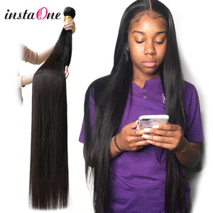 28 30 32 40 Inch Long Brazilian Straight Hair Weaves Bundles 3 4Pcs 100% Human Hair Natural Color
