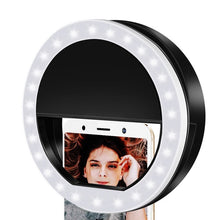 Load image into Gallery viewer, 1PCs Ring Lights LED Circle Light Cell Phone Laptop Camera Photography Video Night Light Clip On Rechargeable Photo Lamp