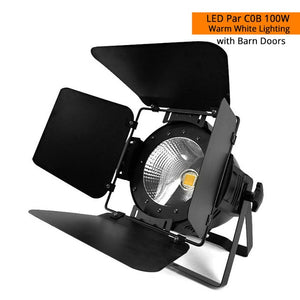 Novelties LED 200W COB Par Lights Aluminum Housing White/Warm White Color For Stage/Theater/Small Club And Bars Lighting SHEHDS