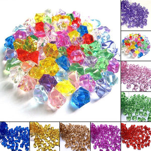 150pcs Mini Acrylic Crystal Gemstone Ice Rock Craft For Party Vase Filler Decorative R1 Stone