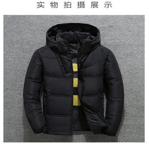2019 Winter Jacket Mens Quality Thermal Thick Coat Snow Red Black Parka Male