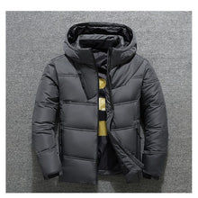 Load image into Gallery viewer, 2019 Winter Jacket Mens Quality Thermal Thick Coat Snow Red Black Parka Male