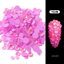 Load image into Gallery viewer, 1pack Luminous Crystal Mixed Size SS6-SS20 Nail Art Rhinestone Decorations 3D