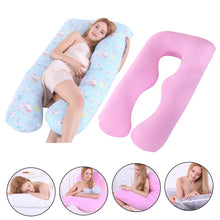 Load image into Gallery viewer, Maternity Pillow Cover Pregnant Woman Pillowcase cotton U-shaped Pillow Sleeping Cushion Case